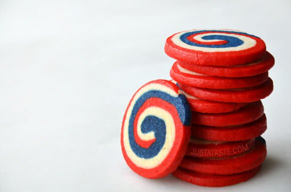 July 4th dessert pinwheel icebox cookies | 25+ 4th of July Party Ideas
