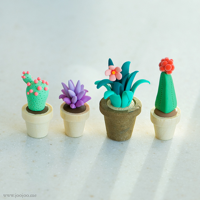 Polymer Clay Cacti | 25+ Cactus crafts and DIY