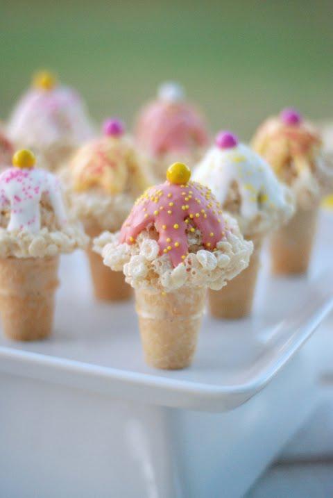 Rice Krispie Treats Ice Cream Cones | 25+ Rice Krispie Treat Ideas