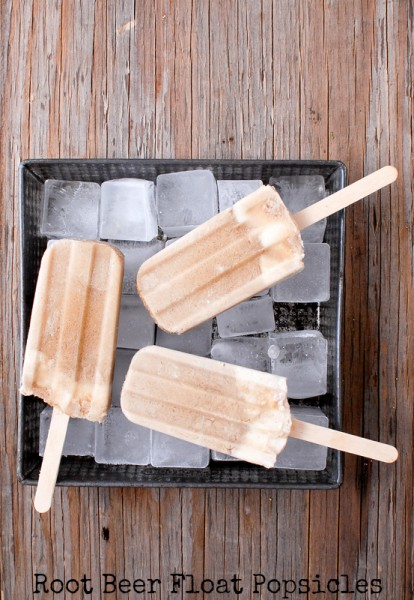 Root Beer Float Popsicles | 25+ Two Ingredient Recipes