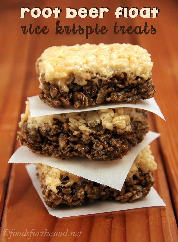 Root Beer Float Rice Krispie Treats | 25+ Rice Krispie Treat Ideas