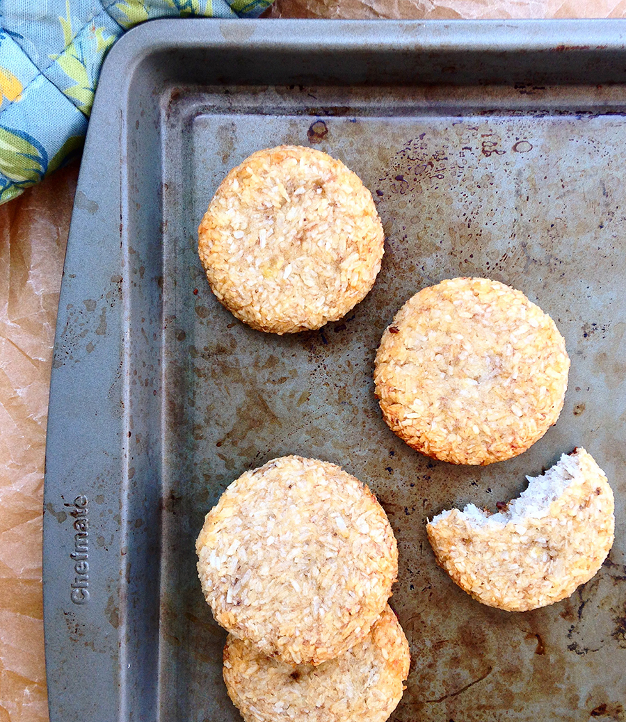 Two Ingredient Banana Coconut Cookies | 25+ Two Ingredient Recipes