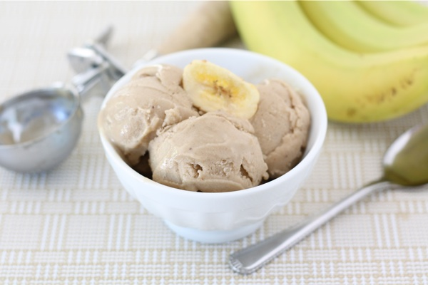Two Ingredient Banana Peanut Butter Ice Cream | 25+ Two Ingredient Recipes