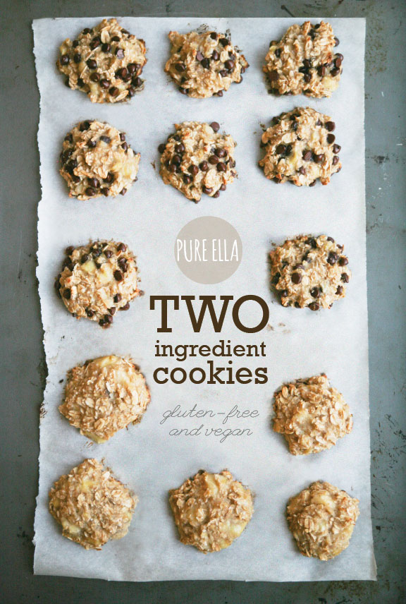 Two Ingredient Vegan Gluten Free Sugar Free Cookies | 25+ Two Ingredient Recipes
