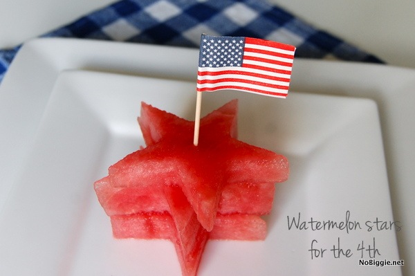Watermelon stars, perfect for the 4th | 25+ 4th of July Party Ideas