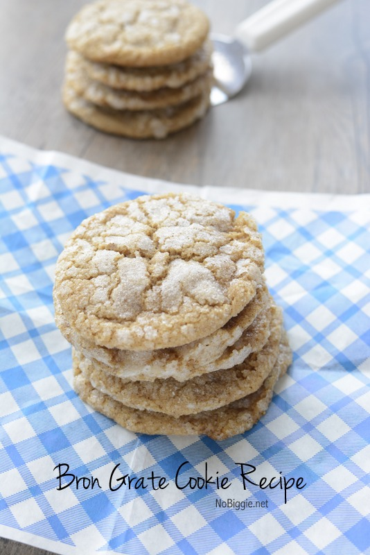 Bron Grate Cookie Recipe a great Norwegian cookie that is a mix of a ginger snap and a snickerdoodle. #cookies #Norwegian #cookierecipes #Norwegiancookies #brongrate