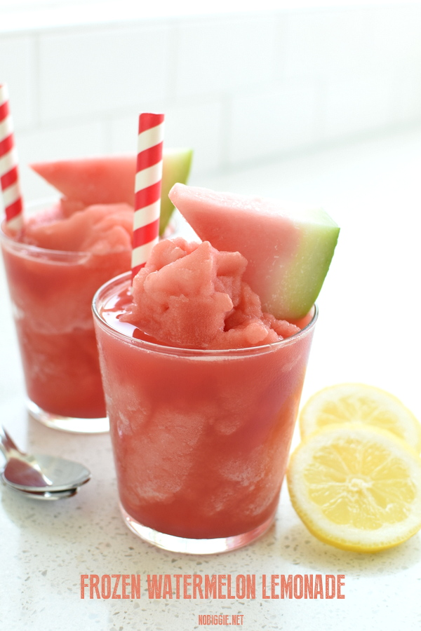 frozen watermelon lemonade | 25+ Watermelon Recipes