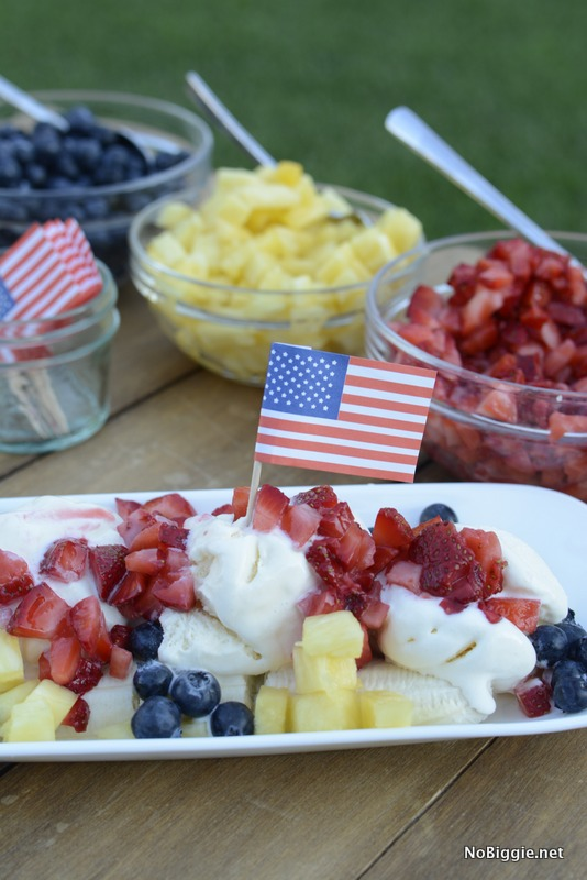 red white and blue banana split | NoBiggie.net