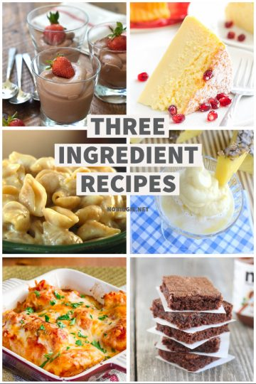 25+ Three Ingredient Recipes