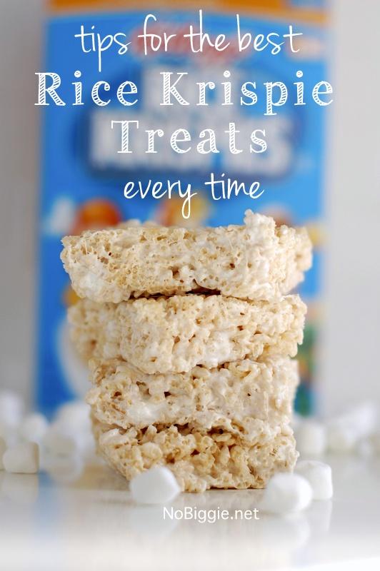 Tips for the best Rice Krispie Treats Every Time | 25+ Rice Krispie Treat Ideas | NoBiggie.net