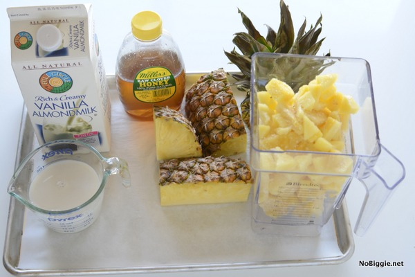 3 ingredient pineapple whip float | NoBiggie.net