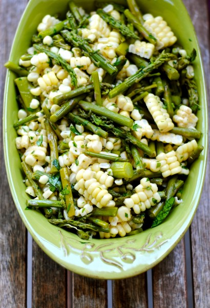 Asparagus and Corn Salad | 25+ fresh corn recipes