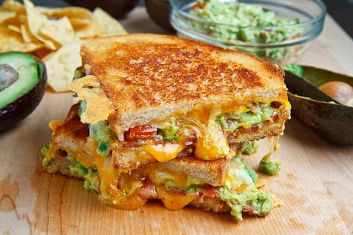 Bacon Guacamole Grilled cheese Sandwich | 25+ recipes starring bacon