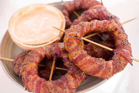 Bacon Wrapped Onion Rings | 25+ recipes starring bacon