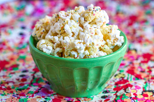 Birthday Cake Batter Popcorn | 25+ Cake Batter Recipes