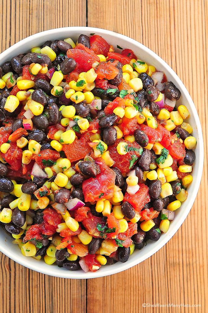 Black Bean and Corn Salsa   25+ fresh corn recipes