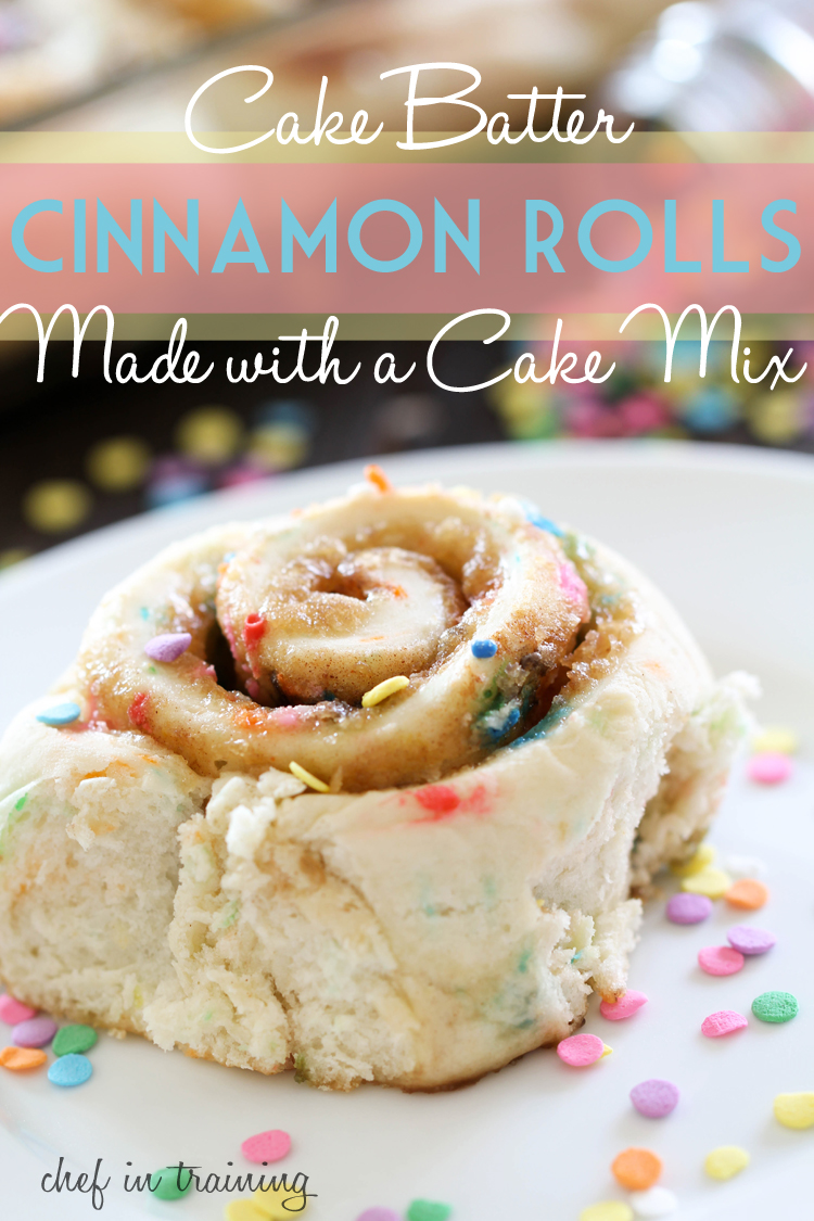 Cake Batter Cinnamon Rolls | 25+ Cake Batter Recipes