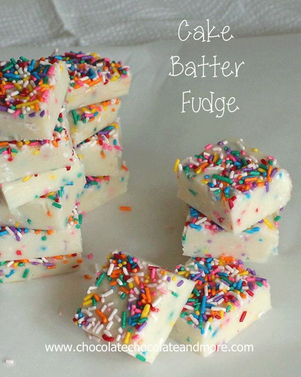 Cake Batter Fudge | 25+ Cake Batter Recipes