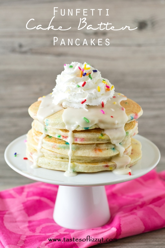 Funfetti Cake Batter Pancakes | 25+ Cake Batter Recipes