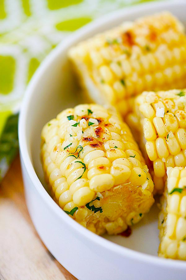 Garlic-Herb Butter Roasted Corn | 25+ fresh corn recipes