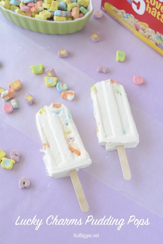 Lucky Charms Pudding Pops | get the easy recipe on NoBiggie.net