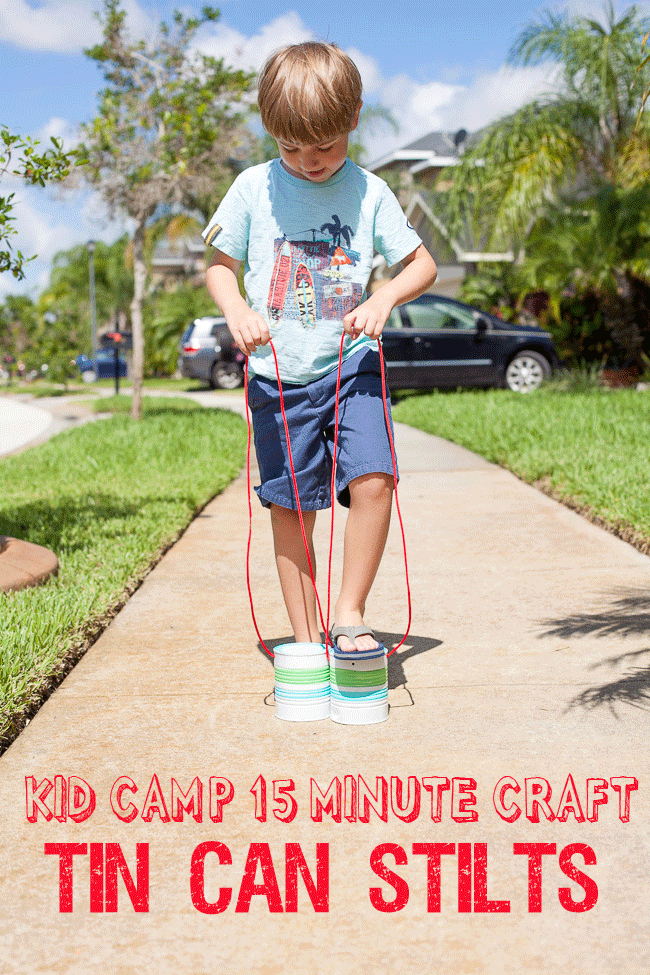 Recycled Tin Can Stilts | 25+ Summer Crafts for Kids