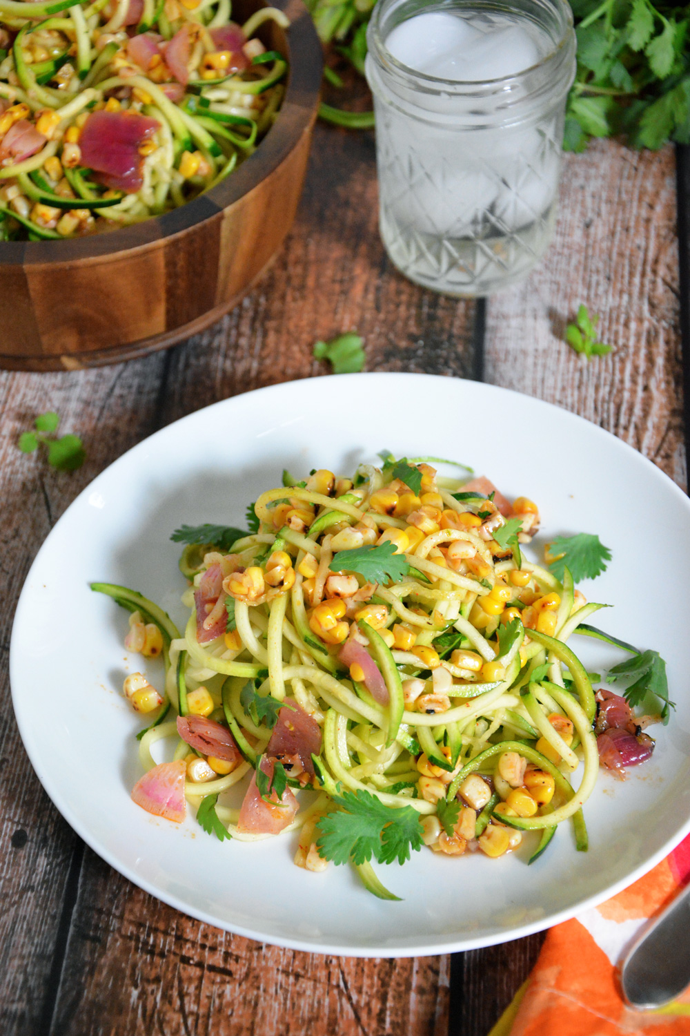 Zucchini and Roasted Corn Salad with Chili Lime Vinaigrette | 25+ fresh corn recipes