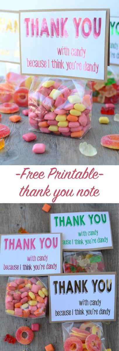free printable thank you note | NoBiggie.net