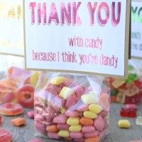 Free printable candy thank you note