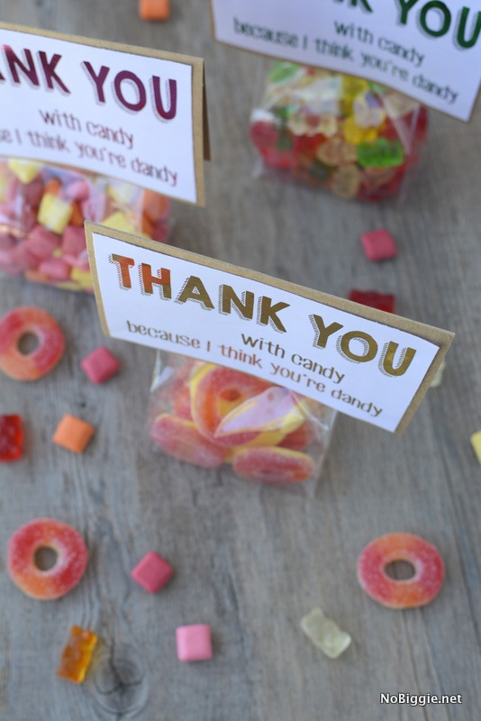 free printable thank you note...because everything is better with candy | NoBiggie.net