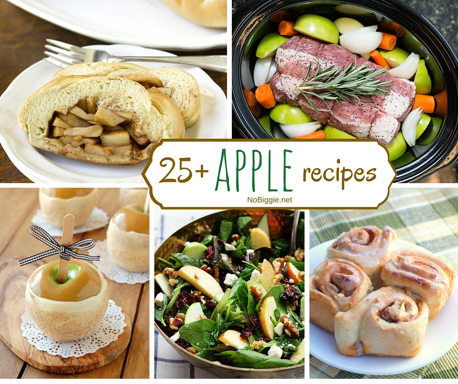 25+ apple recipes | NoBiggie.net