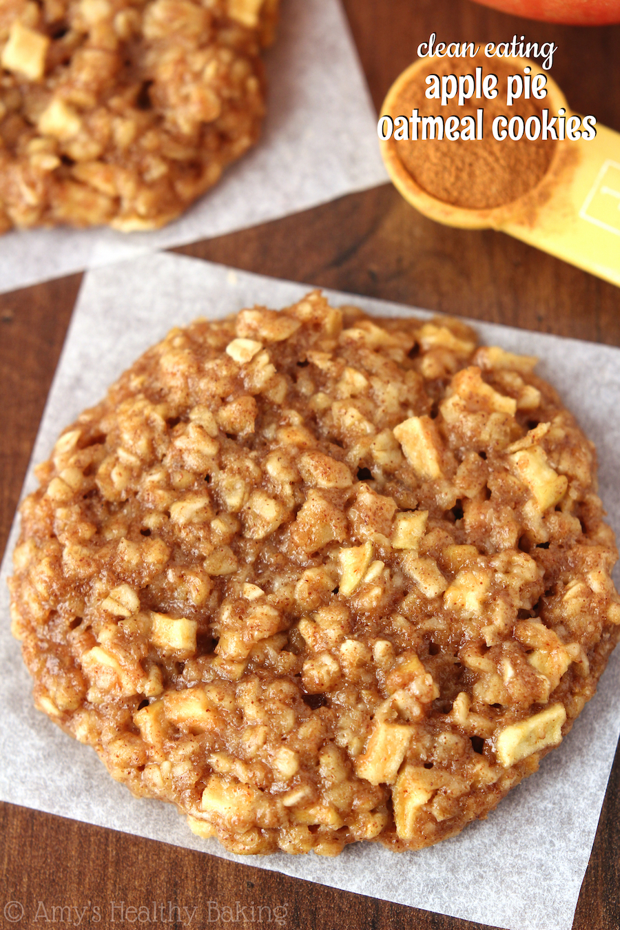 Apple Pie Oatmeal Cookies | 25+ apple recipes