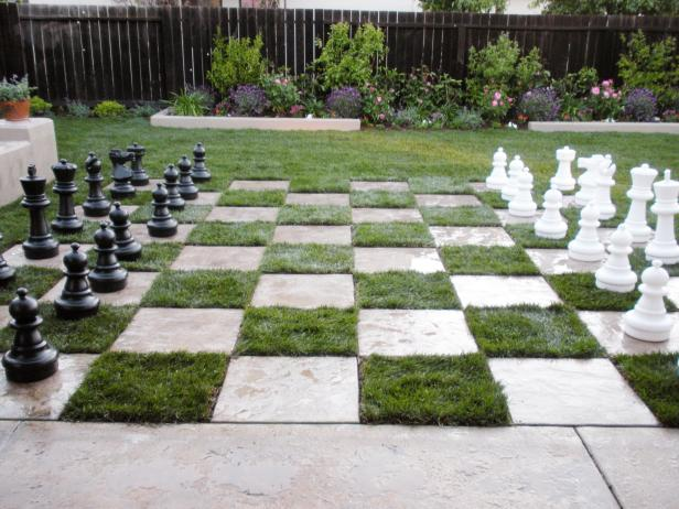Backyard Chess Patio | 25+ Yard Games
