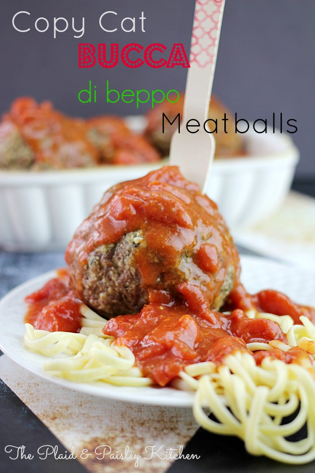 Bucca di Beppo Meatballs Copycat Recipe | 25+ CopyCat Restaurant Recipes
