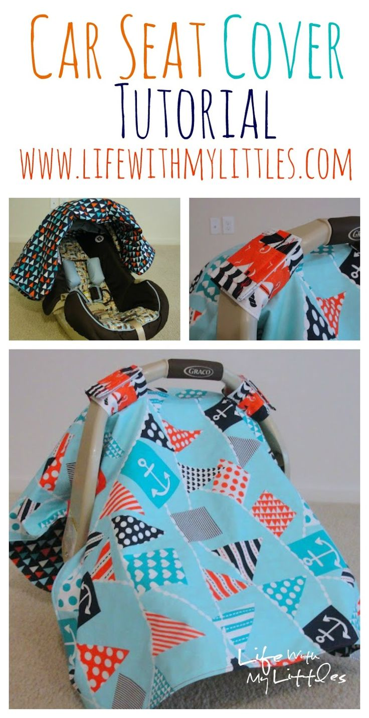 Carseat cover tutorial | 25+ easy sewing projects