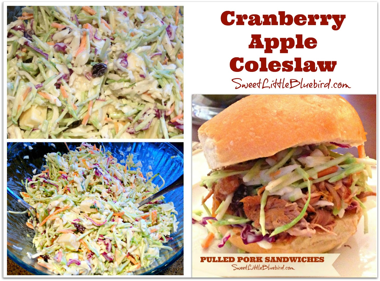 Cranberry apple coleslaw | 25+ apple recipes