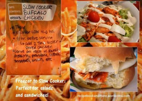 Crock Pot Buffalo Ranch Chicken | 25+ freezer meal ideas