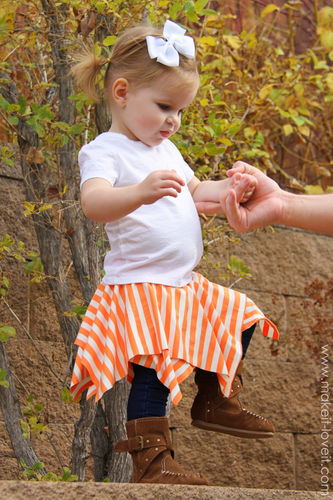 Double layer square circle skirt | 25+ easy sewing projects
