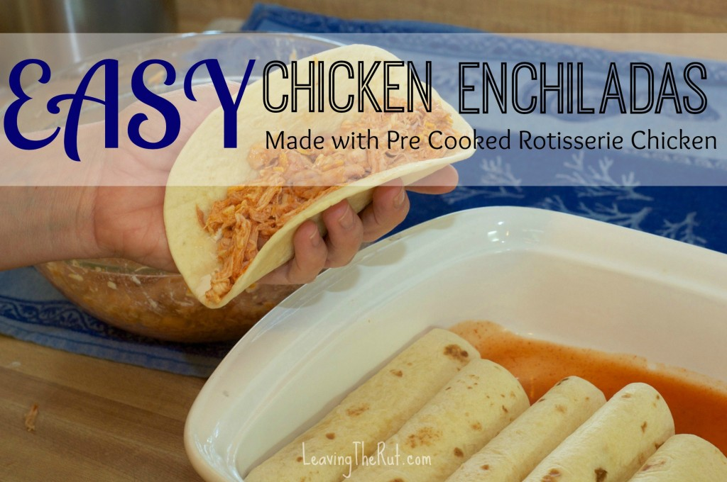 Easy Chicken Enchiladas | 25+ freezer meal ideas