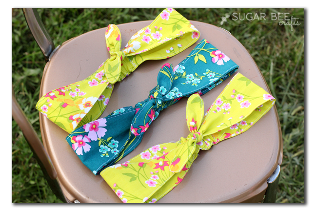 Fabric knotted headband | 25+ easy sewing projects