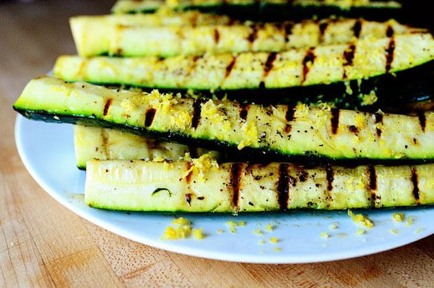 Grilled zucchini with lemon salt | 25+ zucchini recipes