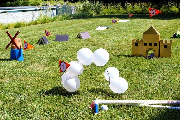Homemade Mini Golf Course   25+ Yard Games
