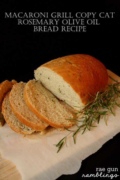 Macaroni Grill Rosemary and Olive Oil Bread Copycat Recipe | 25+ CopyCat Restaurant Recipes