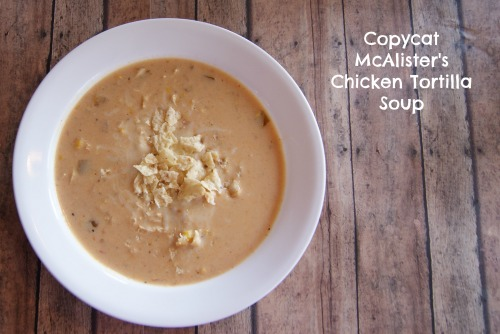 McAllisters Chicken Tortilla Soup Copycat Recipe | 25+ CopyCat Restaurant Recipes