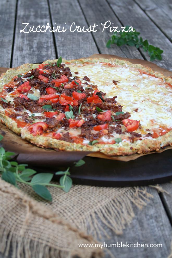 Zucchini Crust Pizza | 25+ zucchini recipes