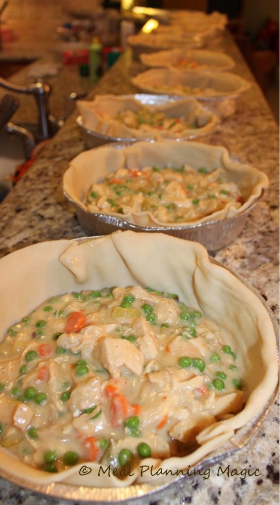 chicken potpie | 25+ freezer meal ideas