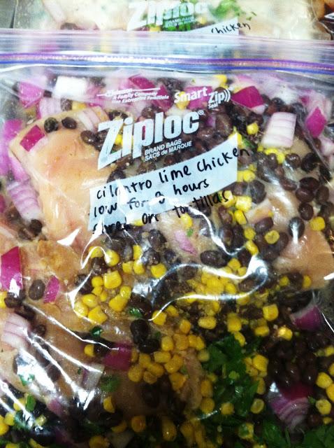 cilantro lime chicken | 25+ freezer meal ideas