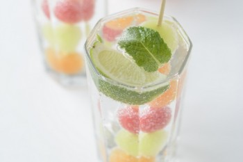 Melon ice cubes
