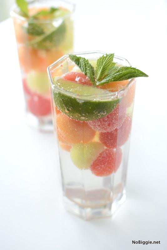 melon ice cubes