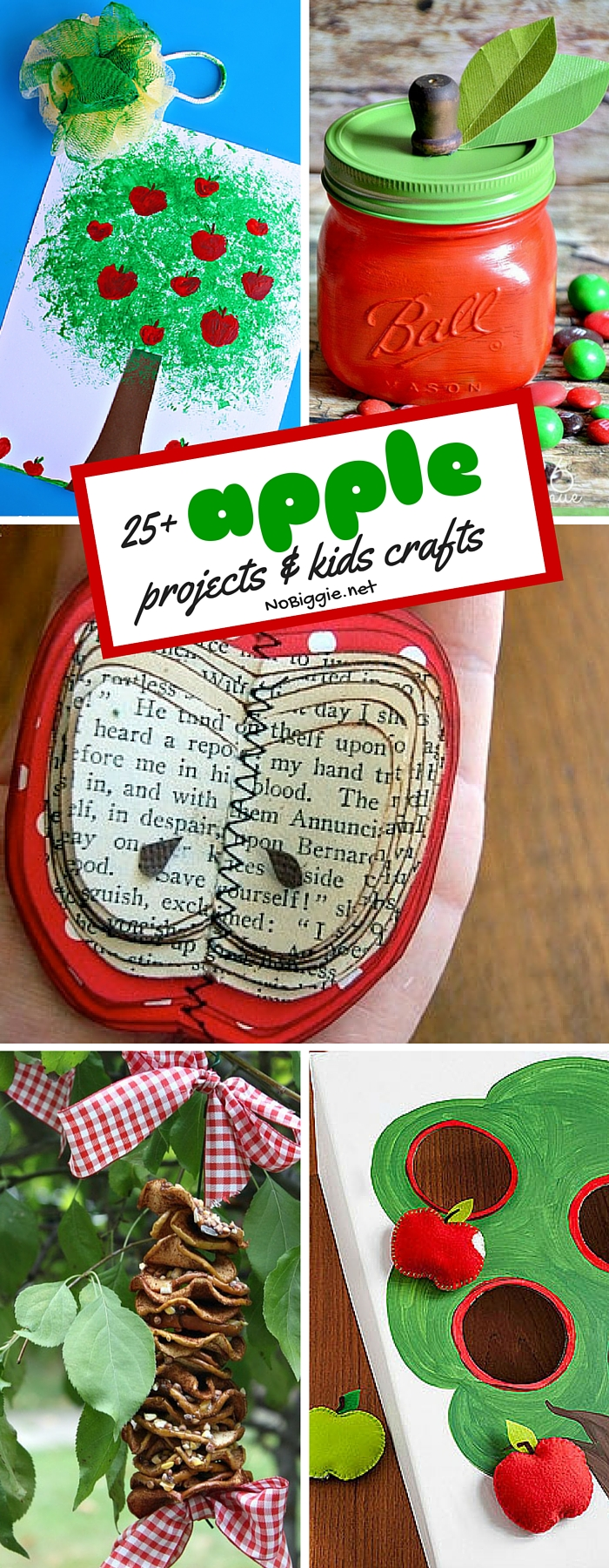 apple projects and kids crafts to get them ready for apple season. #diy #crafts #apple #applecrafts #kidscrafts